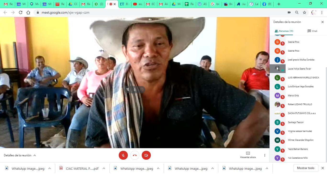 Intercambios virtuales de las comunidades que implementan Núcleos de Desarrollo Foretal
